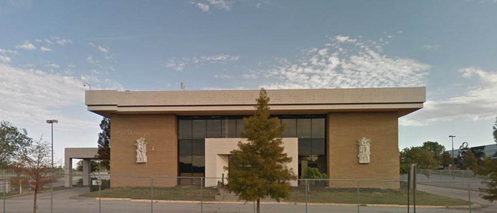 Vacant former Home Savings location at Bannister Mall, Kansas City. Image from Google StreetView; see below for details.